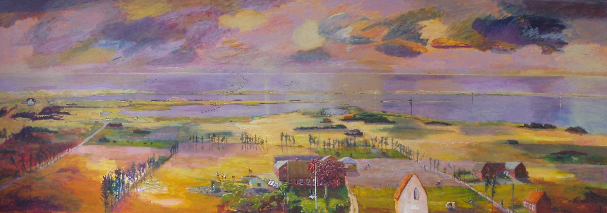 The Land Behind The Sea, wall painting 750 x 300