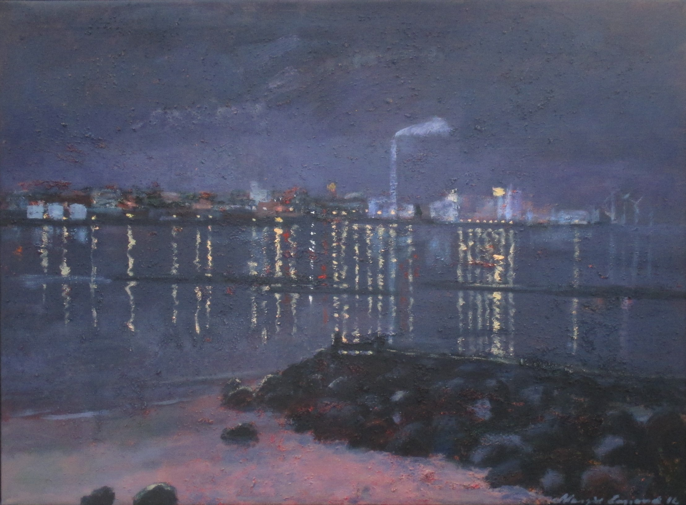 Esbjerg by night (95 x 70)